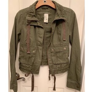 Women's olive green jacket